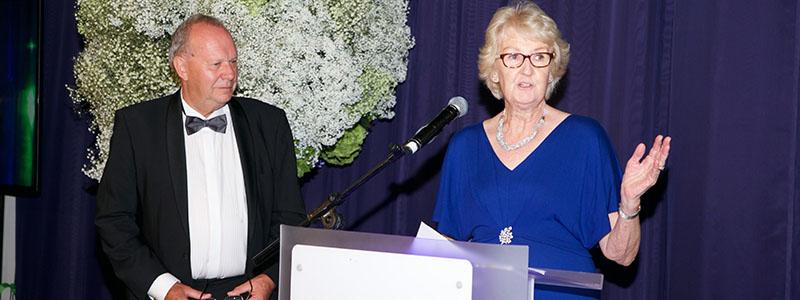 Cathie Sabin presented with LTA's Carl Aarvold Award