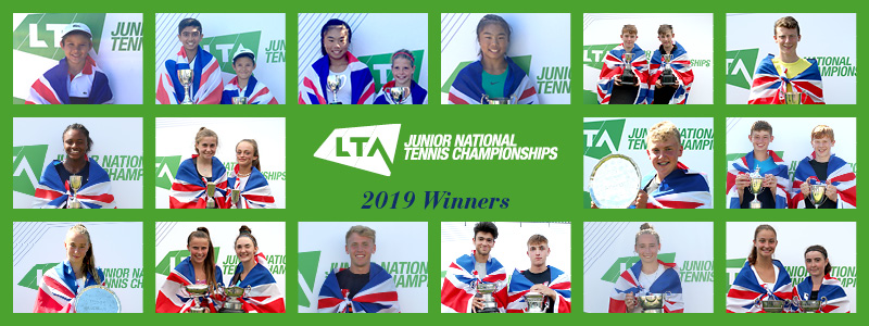 2019 Junior National Tennis Championships - Roll of Honour