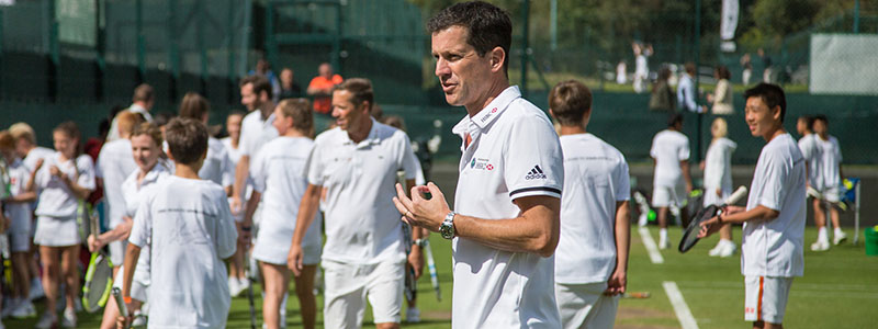 Tim Henman at the Road to Wimbledon Finals competition