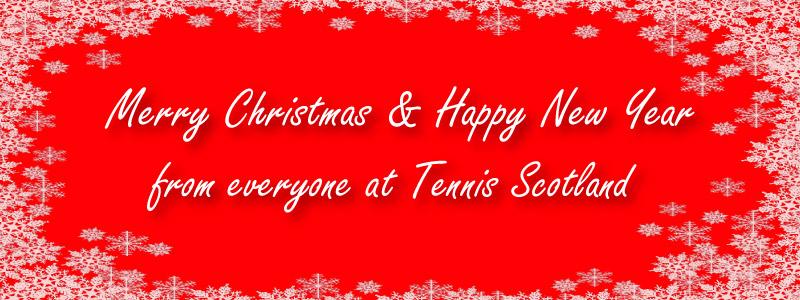 Festive banner for 2019 for Tennis Scotland.