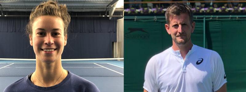 Adam Lownsbrough Evie Williams Tennis Scotland coaches