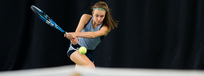Tennis player on court for clean sport
