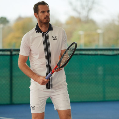 Andy Murray in AMC Kit