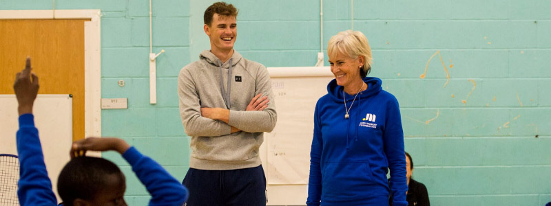 Judy and Jamie Murray deliver a training day for scholl children at Dalmarnock, Glasgow.