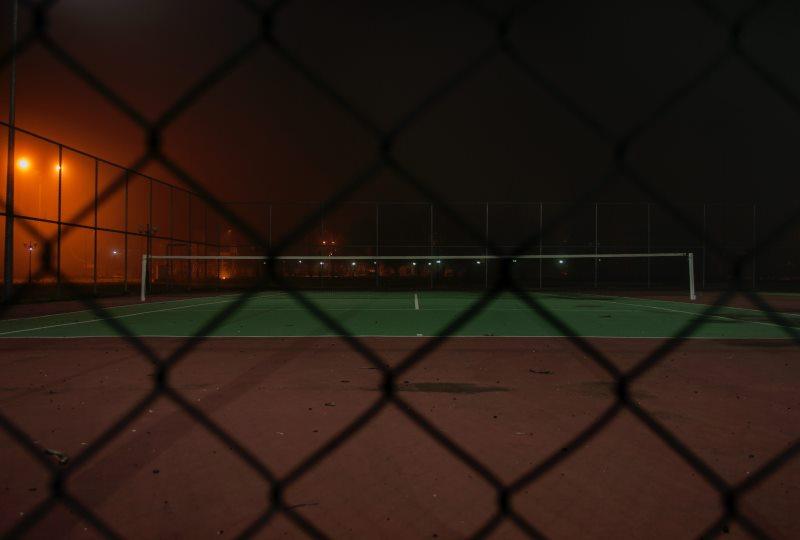 Tennis at night