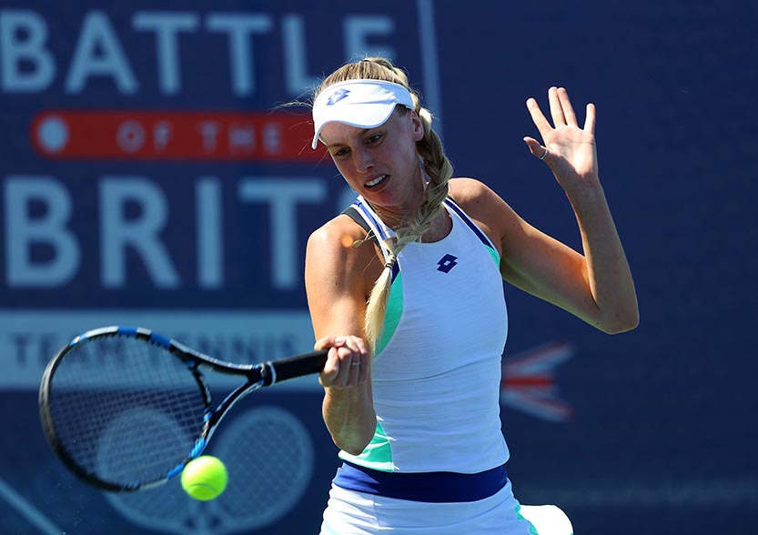 Naomi Broady of Union Jacks beats Eden Silva