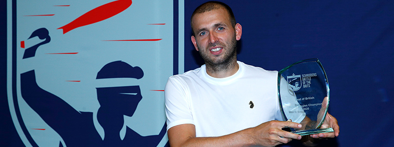 Dan Evans trophy shot