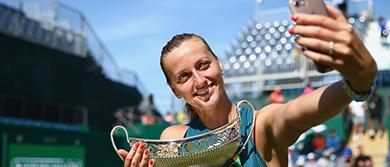 Petra Kvitova posing for a selfie