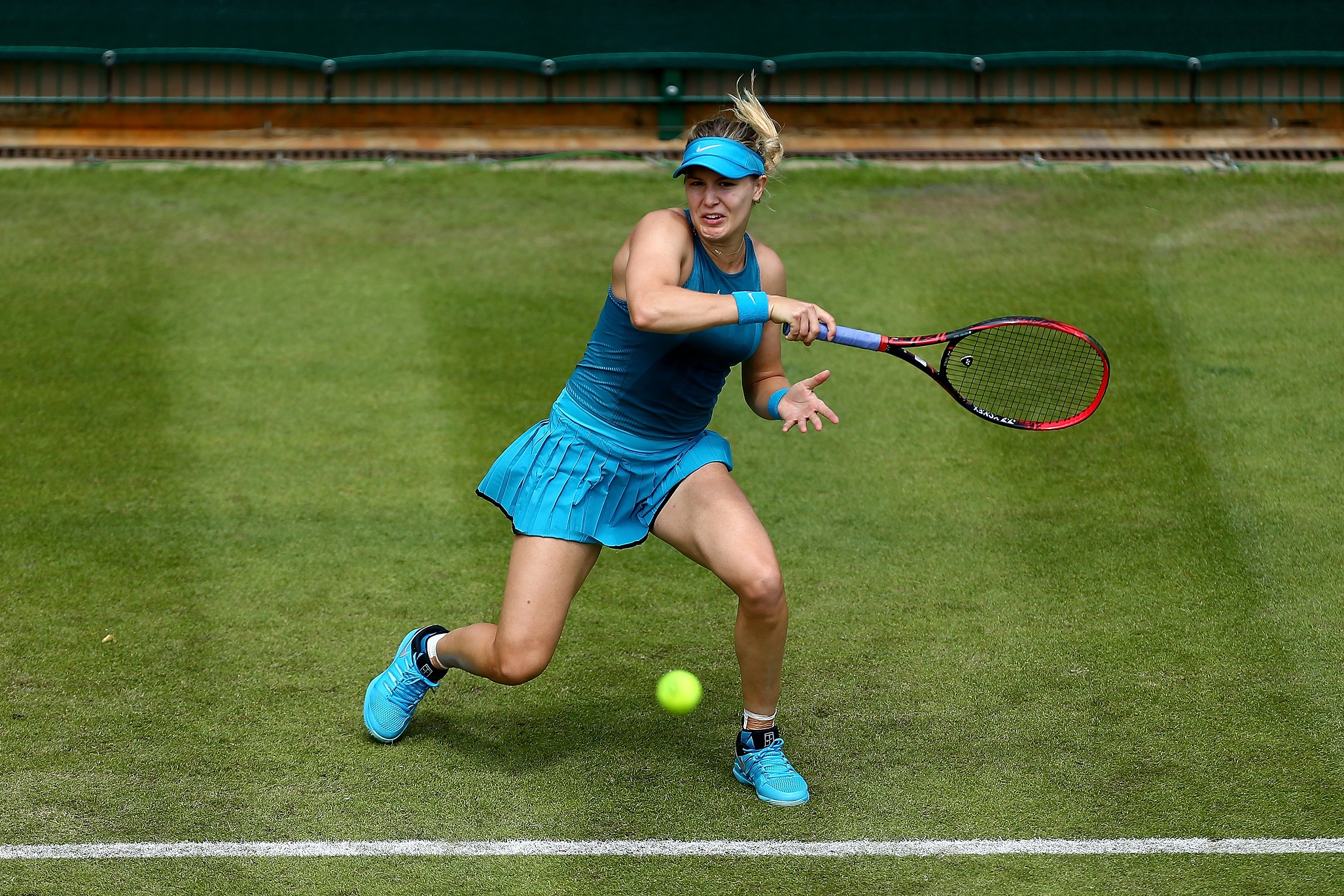 Eugenie Bouchard of Canada plays a forehand
