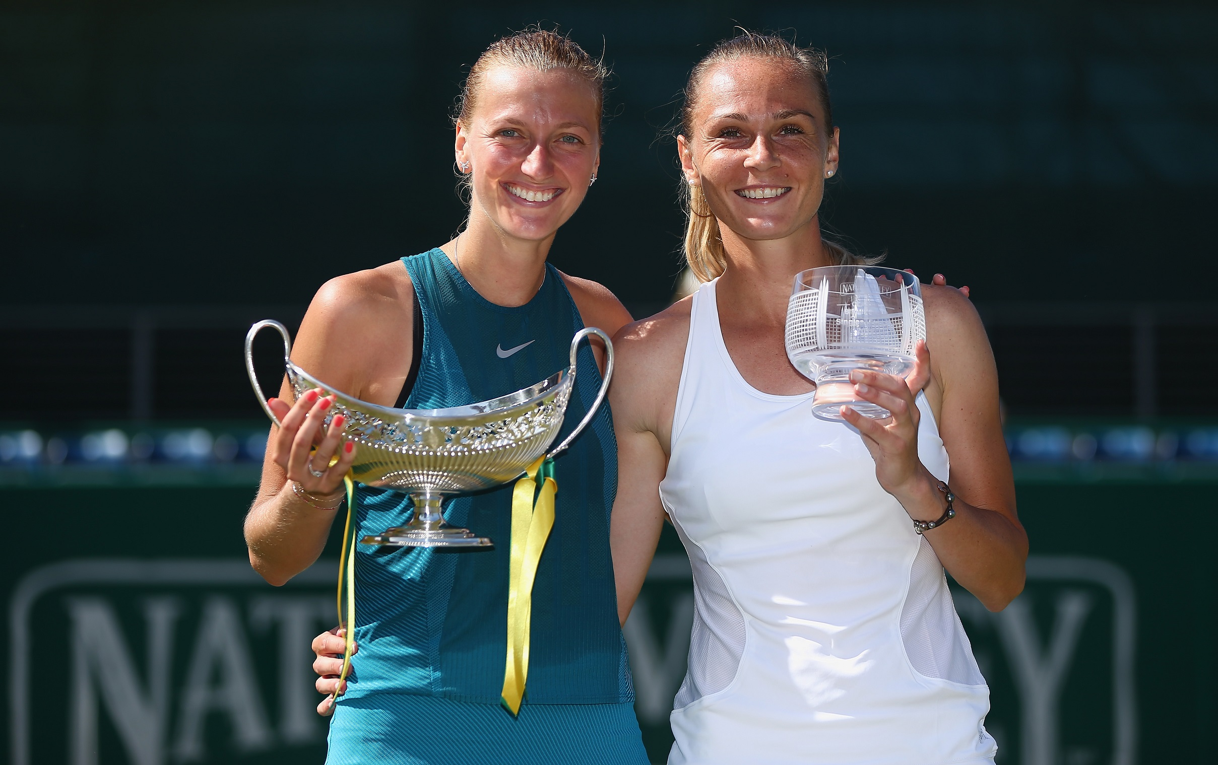 Tournament winner, Petra Kvitova of the Czech Republic and runner up Magdalena Rybarikova of Slovakia