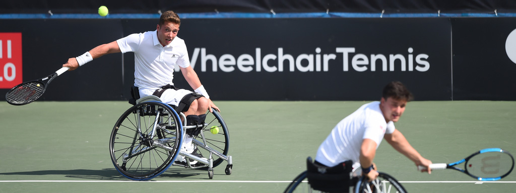 2018 British Open- Alfie Hewett and Gordon Reid in action