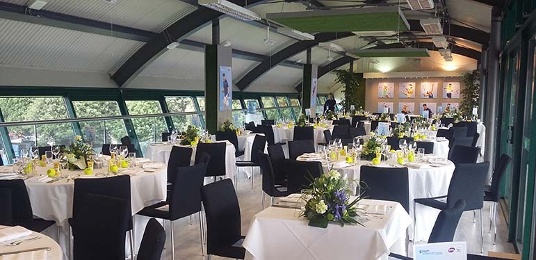 Hospitality suite at the Eastbourne International tennis tournament.