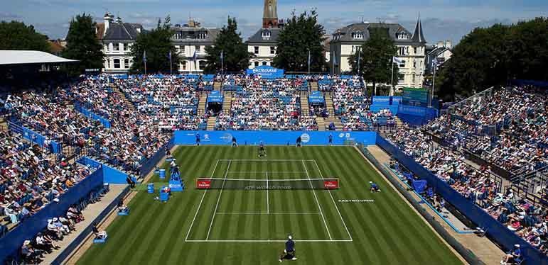 Centre court at the Eastbourne International tennis tournament.