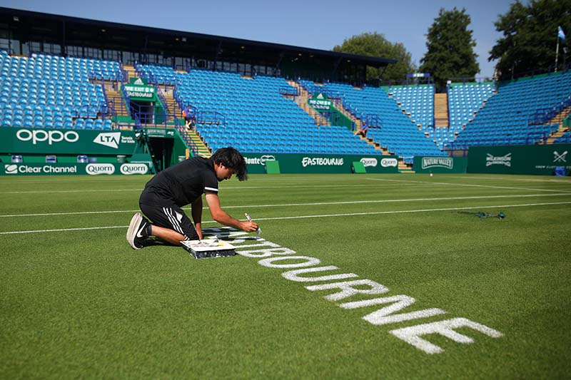 Court prep for finals day at Devonshire Park