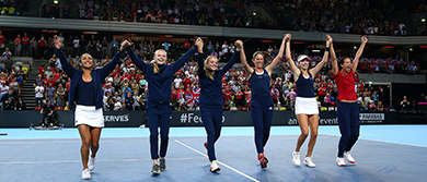 Great Britain's Fed Cup team win the World Group II Play-Off