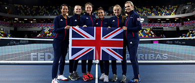 The GB Fed Cup team in London