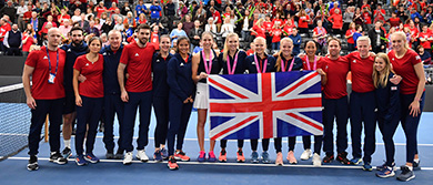 Great Britain's Fed Cup team in Bath