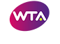 2019 WTA International logo white text