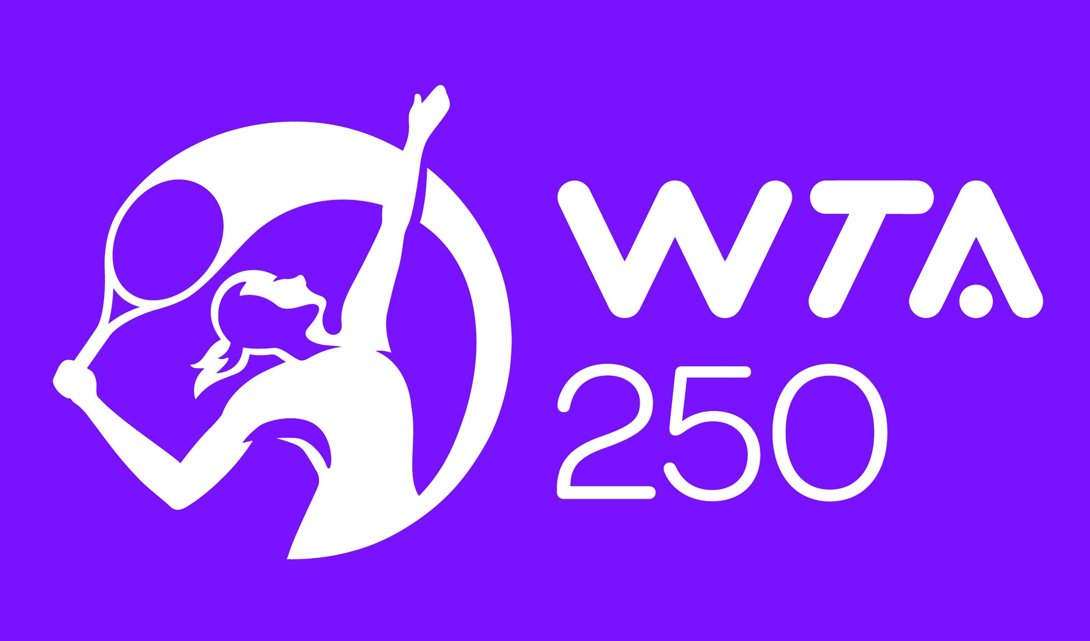 WTA 250 logo purple
