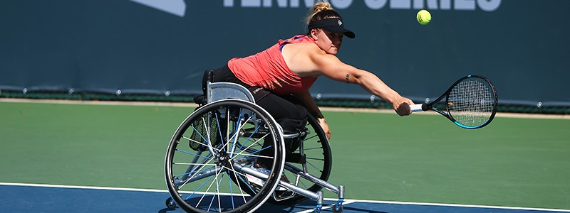 Jordanne Whiley in action