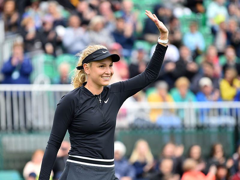 Donna Vekic waves to the crowd