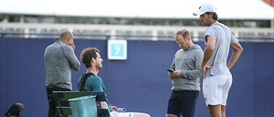Andy Murray and Feliciano Lopez at The Queen's Club