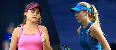 Gabi Taylor and Katie Boulter at the Nature Valley Open