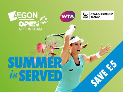 Aegon Open Nottingham Tickets