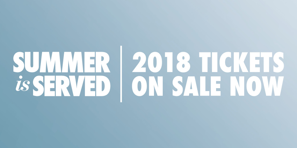 2018 tickets now on sale