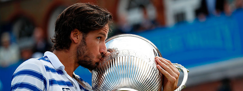 Feliciano Lopez kisses the Aegon Championships trophyFeliciano Lopez kisses the Aegon Championships trophy