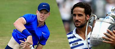 Kyle Edmund and Feliciano Lopez at The Queen's Club