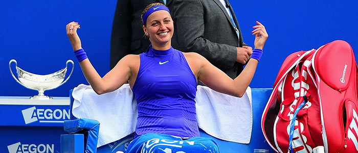 Petra Kvitova all smiles after winning 2017 Aegon Classic Birmingham