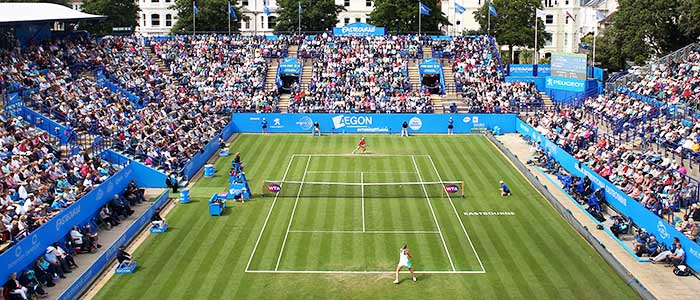 Centre Court at the Aegon International Eastbourne 2017