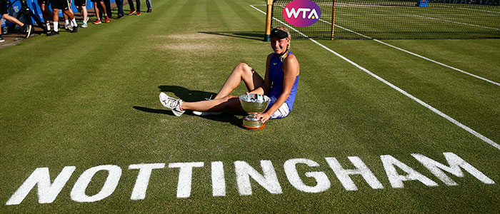Donna Vekic with the Elena Baltacha trophy