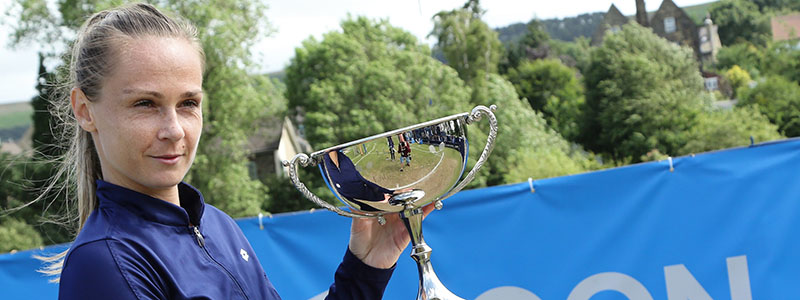Magdalena Rybarikov with Ilkley trophy