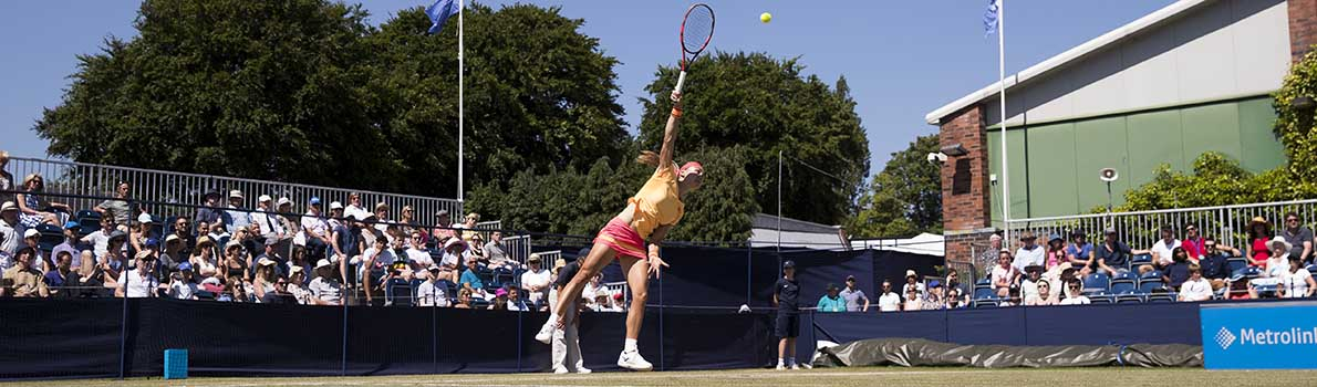 Aleksandra Krunic of Russia during her womens final match
