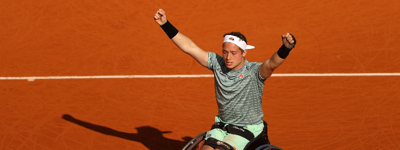 Alfie Hewett after winning the 2020 Roland Garros men's singles