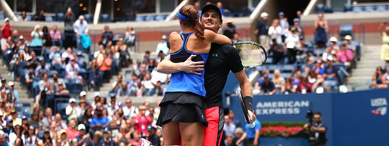 Jamie Murray and Martina Hingis celebrate US Open win