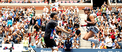 Jamie Murray and Bethanie Mattek-Sands at the US Open