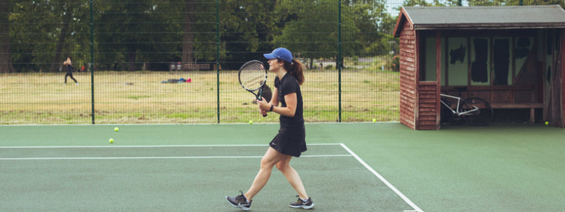 Emma Oliver at Lambeth Tennis Courts