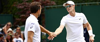 Bruno Soares and Jamie Murray at Wimbledon