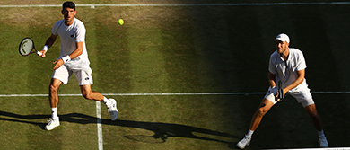 Dom Inglot and Franko Skugor at Wimbledon