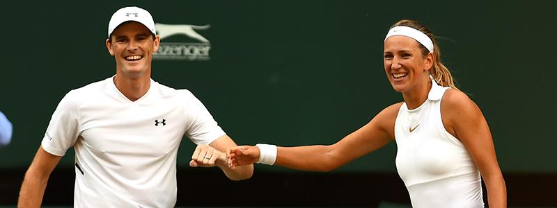 Azarenka and Murray at Wimbledon