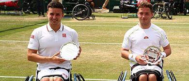 2019 Wimbledon Championships - Aflie Hewett and Gordon Reid doubles runners up