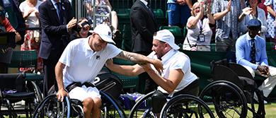 Andy Lapthorne and Dylan Alcott at Wimbledon