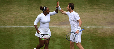 Serena Williams and Andy Murray at Wimbledon