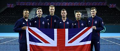 The Great Britain Davis Cup team in Glasgow