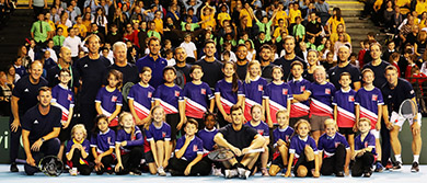 Tennis for Kids at the Davis Cup