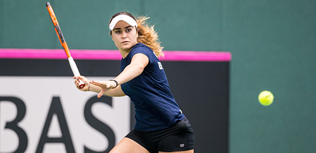 Gabriella Taylor in Fed Cup action