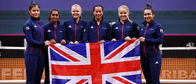 GB Fed Cup Team in Bratislava